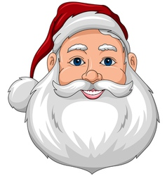 Santa happy face front vector