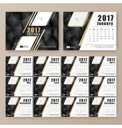 12 month desk calendar template vector image