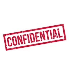 Confidential rubber stamp vector