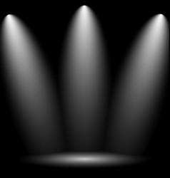 black empty photo studio vector image