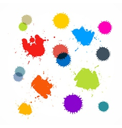 Abstract colorful blots stains splashes vector