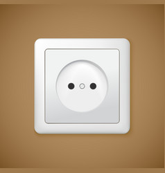 Closeup of electrical outlet vector