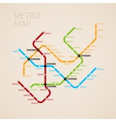 Metro subway map design template transportation vector