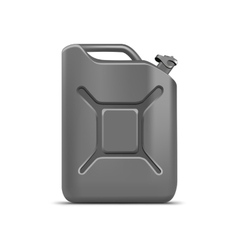 Blank gray jerrycan canister gallon oil cleanser vector