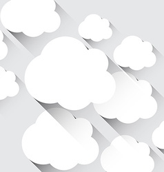 White paper flat clouds vector