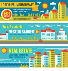 Architecture - real estate - creative banne vector