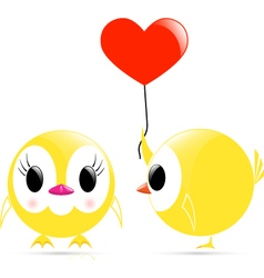 Chick heart chick vector