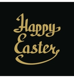 Happy easter golden lettering vector