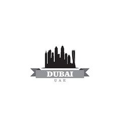 Dubai uae city symbol silhouette vector