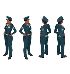 Police woman in uniform police woman icon police vector