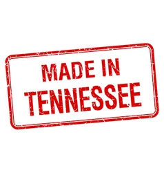 Made in tennessee red square isolated stamp vector