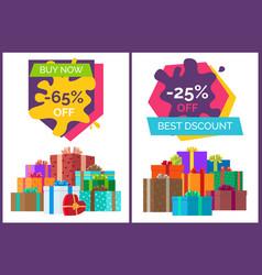 Best discount sale advert with buy now value vector