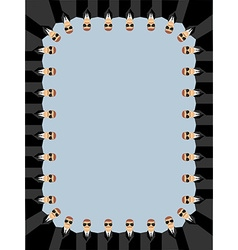 Bodyguards Frame of peoples Security service vector image vector image