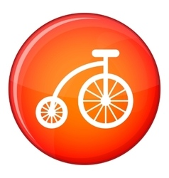 Children bicycle icon flat style vector