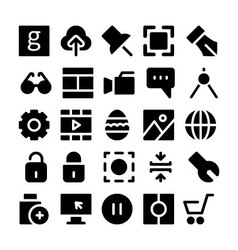 Design and Development Icons 4 vector image vector image