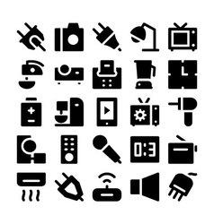 Electronics icons 5 vector