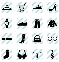 fashion icons set vector image vector image