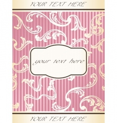 French retro frame vector image