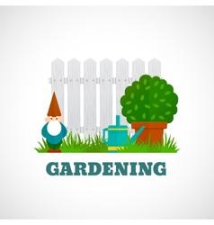 Gardening Poster Flat vector image vector image