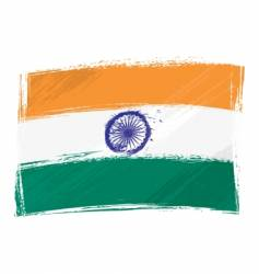 Grunge india flag vector
