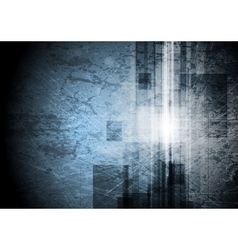 Grunge tech background vector