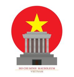 Ho chi minh mausoleum hanoi vietnam vector
