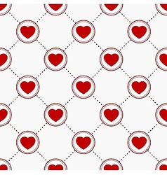 Icons with hearts vector image vector image