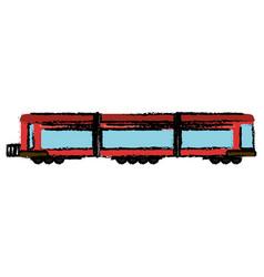 locomotive train transport passenger vector image