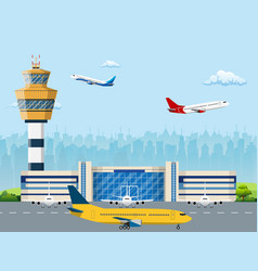 modern building of airport terminal vector image