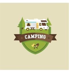 RV camping vector image vector image