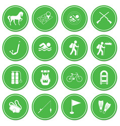 set of camping and sport equipment icons vector image vector image
