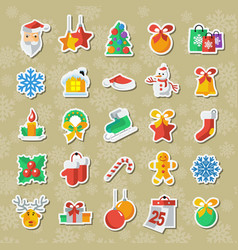 set of christmas and new year icons clipart vector image vector image