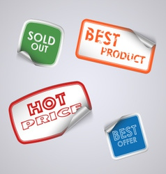 Set of colored rectangle stickers vector image vector image