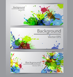 Set of four banners vector
