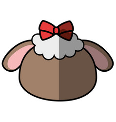 Sheep faceless cartoon vector