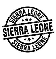 Sierra leone black round grunge stamp vector