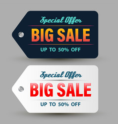 special offer big sale banner dark and white vector image vector image