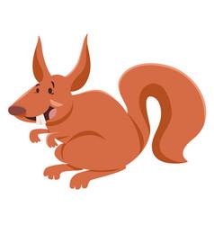 squirrel cartoon character vector image vector image