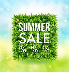 Summer sale advertisement poster Blurred vector image