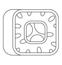sushi icon outline style vector image