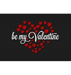 Valentines day vintage on hearts background vector