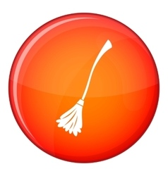 Witches broom icon flat style vector