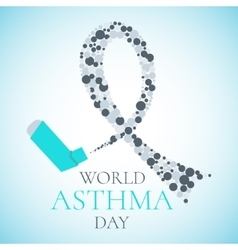 World asthma day poster vector