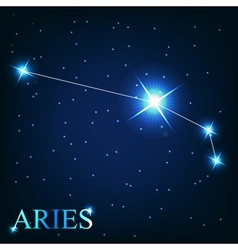 The aries zodiac sign of the beautiful bright vector