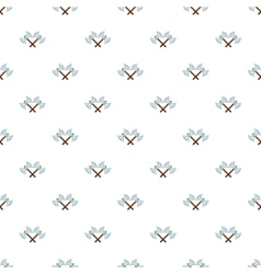 Battle axes with two tips pattern cartoon style vector