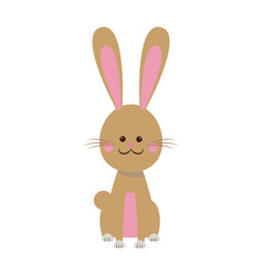 cute easter bunny sitting happy animal vector image