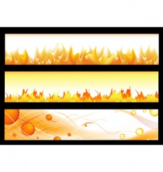 Hot banners vector