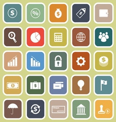 Finance flat icons on yellow background vector