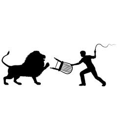 Lion tamer vector image