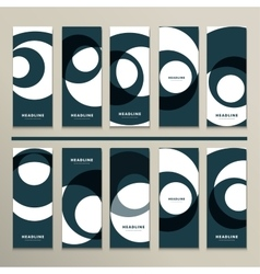 Ten pattern with abstract figures brochures vector